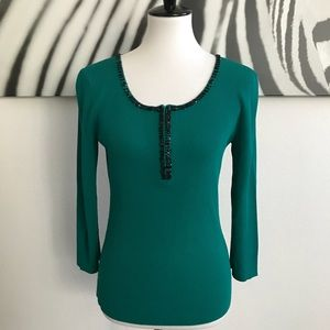 💕2/$20 OR $15💕CABLE & GAUGE ZIPPERED TOP